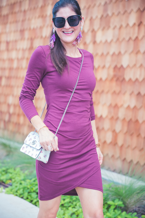 Favorite Fall Staple: Long Sleeve Dress. Go to dress that is easy to style and comfy. | The Fashionable Maven
