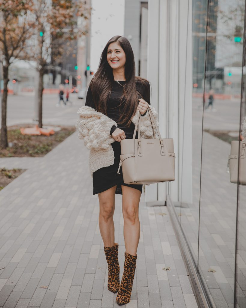 leopard boots outfit, leopard booties, leopard print, shirt dresses, casual outfits for winter, casual dresses, style edgy.