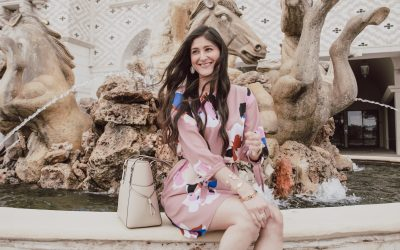 Top Fashion Bloggers The Fashionable Maven, Spring dresses outfit, Blush pink dress, Floral dresses #springstyle