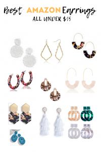Best Earrings on Amazon, Statement earrings, resin earrings, beaded earrings, and tiered earrings