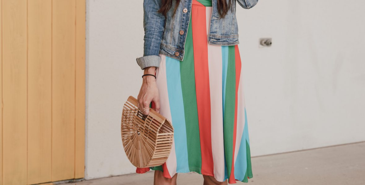 Cute striped dress outfits